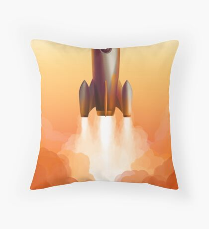 GO for Launch Throw Pillow