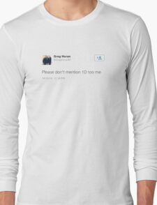 greg // one direction  Long Sleeve T-Shirt