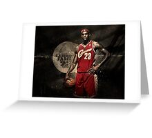 Young Lebron Greeting Card