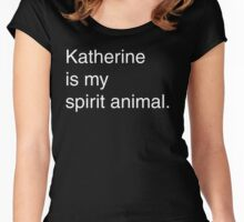Katherine Spirit Animal Women's Fitted Scoop T-Shirt
