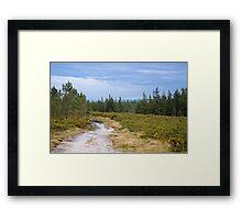 Idyllic landscape in Miraz Framed Print