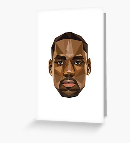 Lebron Troll Face Greeting Card