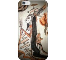 She sips with fire and blood dust iPhone Case/Skin