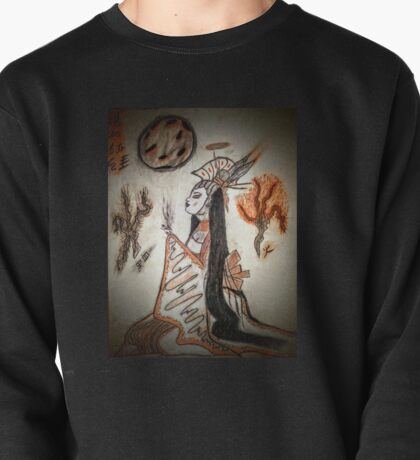 She sips with fire and blood dust Pullover