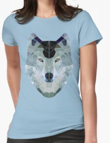 mr. low polygon wolfie Womens Fitted T-Shirt