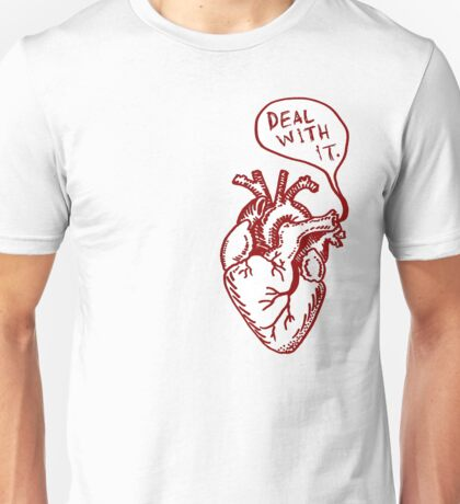 """Heart- """"Deal with it"""" Unisex T-Shirt"""