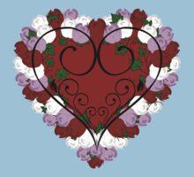Rose Heart One Piece - Short Sleeve