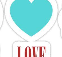 Colorful Peace Love Music Sticker