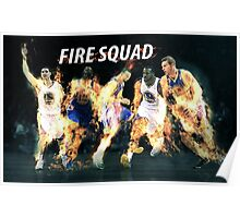 Fire Squad Celebrating Victory Poster