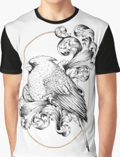 Bird and Curls Graphic T-Shirt