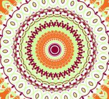 Orange Spice Mandala Sticker