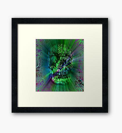 Spectrum Skull Framed Print