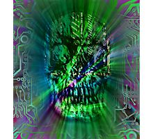 Spectrum Skull Photographic Print