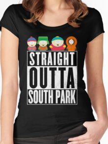 Straight outta South Park Women's Fitted Scoop T-Shirt