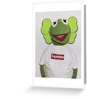 Supreme kaws Greeting Card