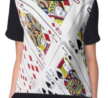 PLAYING CARDS Chiffon Top