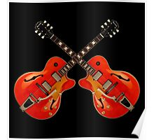 Wonderful Red Electric Guitars Poster