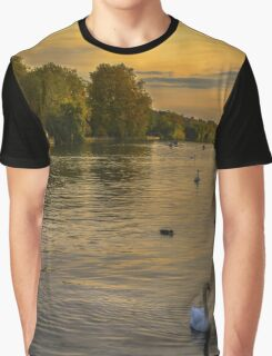Thames Sunset At Marlow Buckinghamshire Graphic T-Shirt