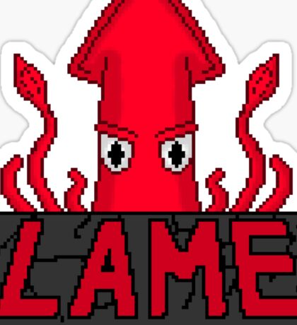 LAME Squid Pixel Art Sticker