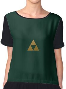 Legend of Zelda Gold Triforce Chiffon Top