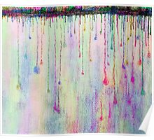 Rainbow Drops in vibrant ink Poster