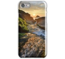 Cornwall: The River Rushing at Trebarwith Strand iPhone Case/Skin
