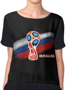 Russia 2018, Fifa World Cup soccer competition Chiffon Top