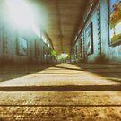 Footbridge (Low Angle) by Nigel Bangert