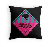 Brain Storming- Pink & Blue Throw Pillow