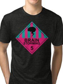 Brain Storming- Pink & Blue Tri-blend T-Shirt