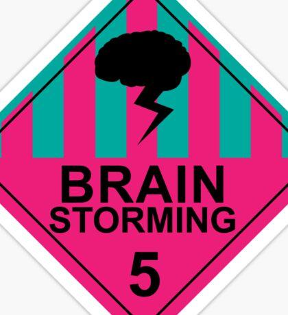 Brain Storming- Pink & Blue Sticker