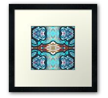 Blue Abstract Design Framed Print