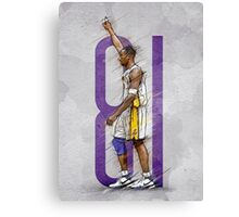 81 points against raptors Canvas Print
