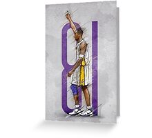 81 points against raptors Greeting Card