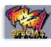 Fatal Fury Special (Neo Geo Title Screen) Canvas Print