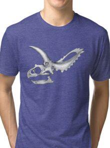 Triceratops Skull Tri-blend T-Shirt
