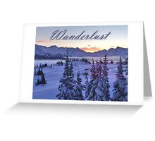 Wanderlust Sunrise Over The Mountains Greeting Card