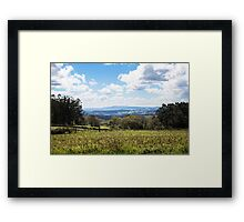 Idyllic landscape in Galicia during springtime Framed Print