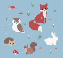 Animals of the Forest One Piece - Short Sleeve