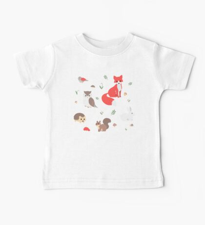 Animals of the Forest Baby Tee