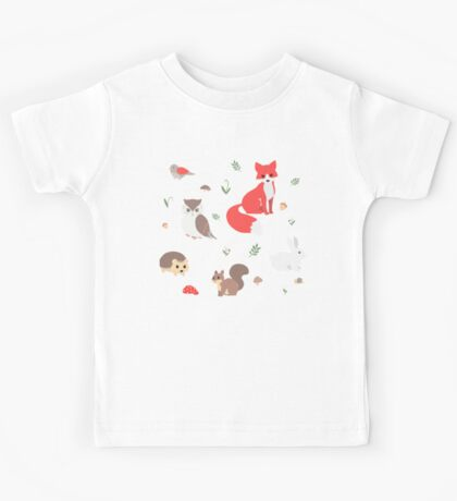 Animals of the Forest Kids Tee