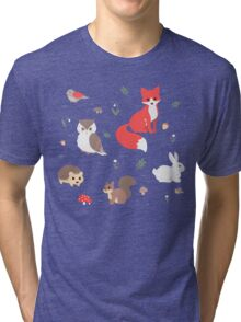 Animals of the Forest Tri-blend T-Shirt