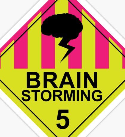 Brain Storming- Pink & Yellow Sticker