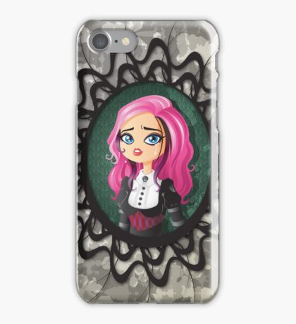 Gothic doll crying iPhone Case/Skin