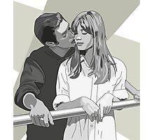 Intimate Embrace/Francoise Hardy/60s couple Photographic Print