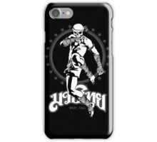 muay thai skull thailand martial art sport power kick impact iPhone Case/Skin