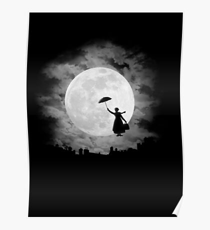 Mary poppins moon Poster
