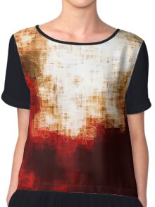 red, rose darkness in midwinter pixel abstration Chiffon Top