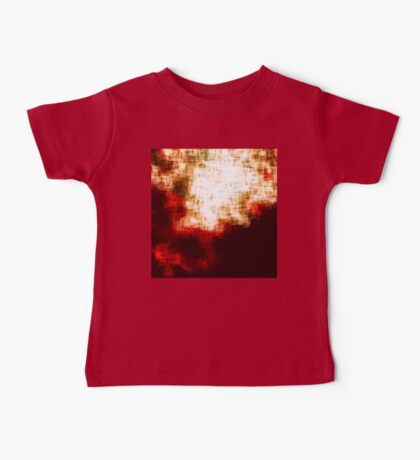red, rose darkness in midwinter pixel abstration Baby Tee