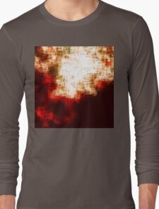 red, rose darkness in midwinter pixel abstration Long Sleeve T-Shirt